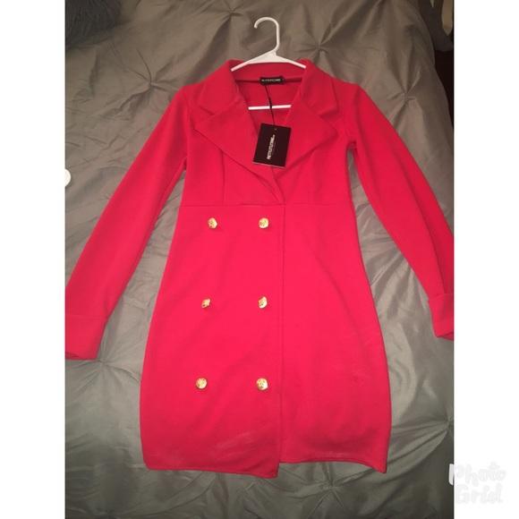 2cb7a9bab2a99 Pretty Little Thing Red Blazer dress